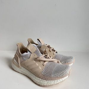 adidas Ultraboost 19 In Crystal White/Brown/Linen